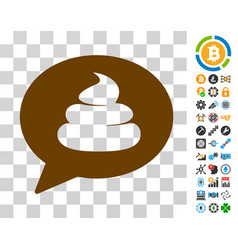 shit idea balloon icon with bonus vector image