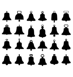 silhouette different bells vector image