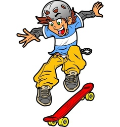 Skateboarder Doing Trick vector image