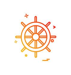 steering icon design vector image