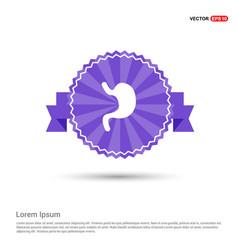 Stomach icon - purple ribbon banner vector