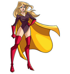 Superheroine standing tall vector