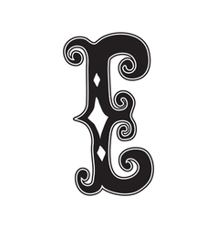 The vintage style letter E vector