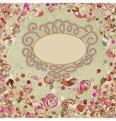Vintage flower template floral background EPS 8 vector image
