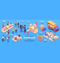 Volunteers isometric infographics vector