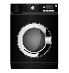Washing machine black device vector