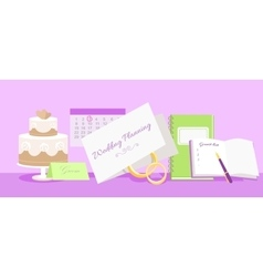 Wedding Planning Design Flat Fashion vector image