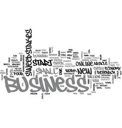 Win a business start up text word cloud concept vector