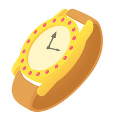 Wristwatch icon cartoon style vector