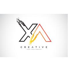 Xa creative modern logo design with orange vector