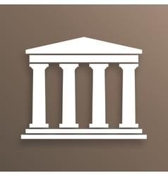 Architecture greek symbol vector image vector image
