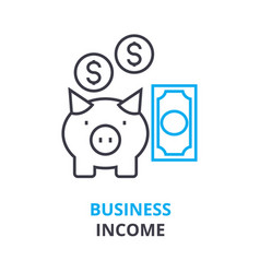 business income concept outline icon linear vector image vector image