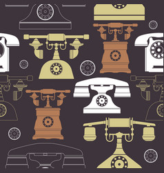 colorful vintage phone pattern vector image