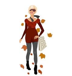 elegant autumn girl isolated vector image