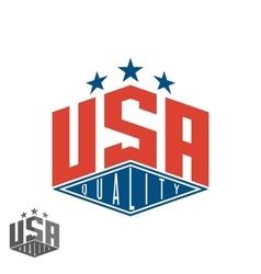 Quality usa logo colored flag of america print vector