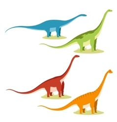 Set of sauropods vector image vector image