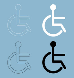 sign of the disabled the black and white color vector image