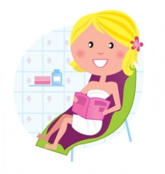 wellness spa relaxing woman vector image