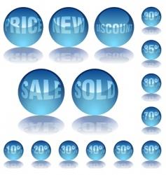 aqua glass prices vector image vector image