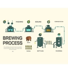 Beer brewing process infographic Flat style vector image