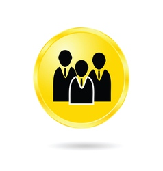 button of business man vector image