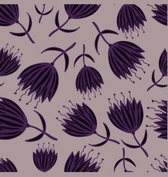 cute seamless pattern with hand-drawn fantasy vector image vector image