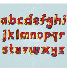 grunge 3d lowercase alphabet vector image vector image
