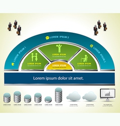 Info graphic for business vector image