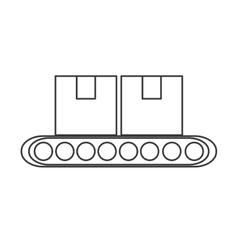 Conveyor belt factory industry icon vector image