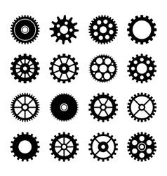 Gear wheel icons set 2 vector image vector image