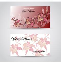 Business Card Set EPS10 vector image