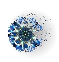 Colorful shape molecular construction vector image vector image