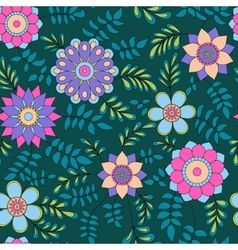 Floral pattern with leaves colorful vector image vector image
