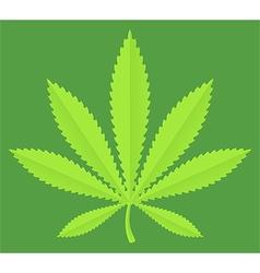Marijuana pot leaf vector