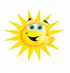 thumbs up sun vector image
