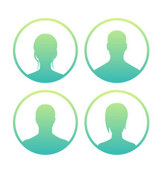 4 avatars icons over white vector image