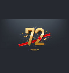 72nd year anniversary background vector image