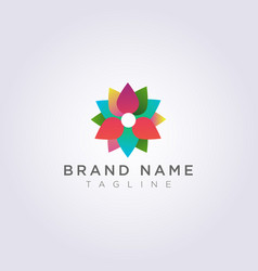 abstract and colorful flower logo design for your vector image