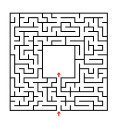 abstract square maze developmental game for vector image