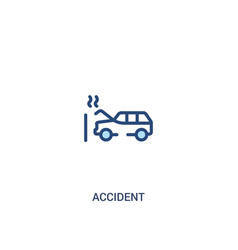 Accident concept 2 colored icon simple line vector