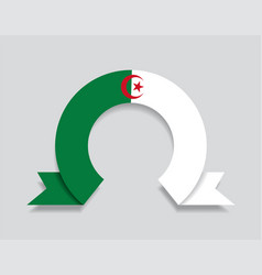 Algerian flag rounded abstract background vector