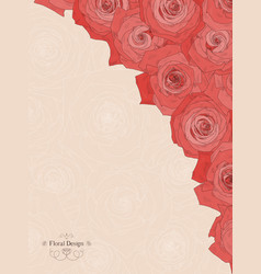 background with beautiful roses vector image