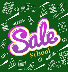 banner back to school sale flyer and vector image