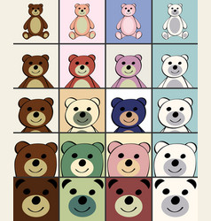 bears funny cartoon animal toy vector image
