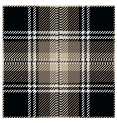 Black Tartan Pattern Design vector image