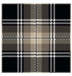 Black Tartan Pattern Design vector