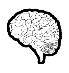 brain mind idea creativity image outline vector image
