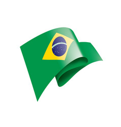 brazil flag on a white vector image