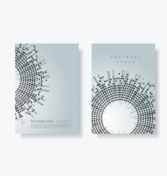 brochure cover design templates with circle vector image