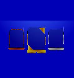 bronze silver and gold futuristic frame design vector image
